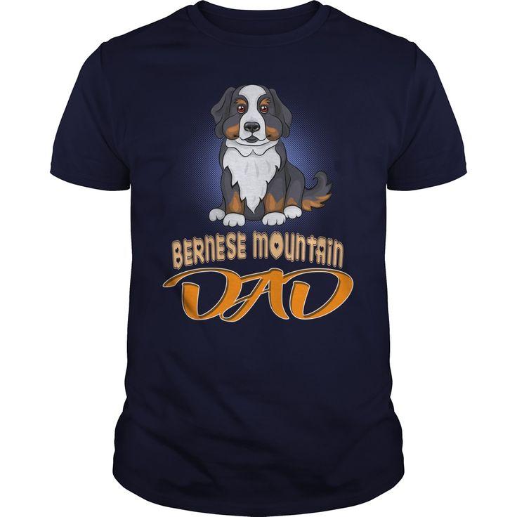 Cute Bernese Mountain Dog Puppy Smiles Dad - Cute Bernese Mountain Dog Puppy Smiles Dad.Click To Add To Cart Above Buy Now.  #Bernese Mountain Dog #Bernese Mountain Dogshirts #iloveBernese Mountain Dog # tshirts