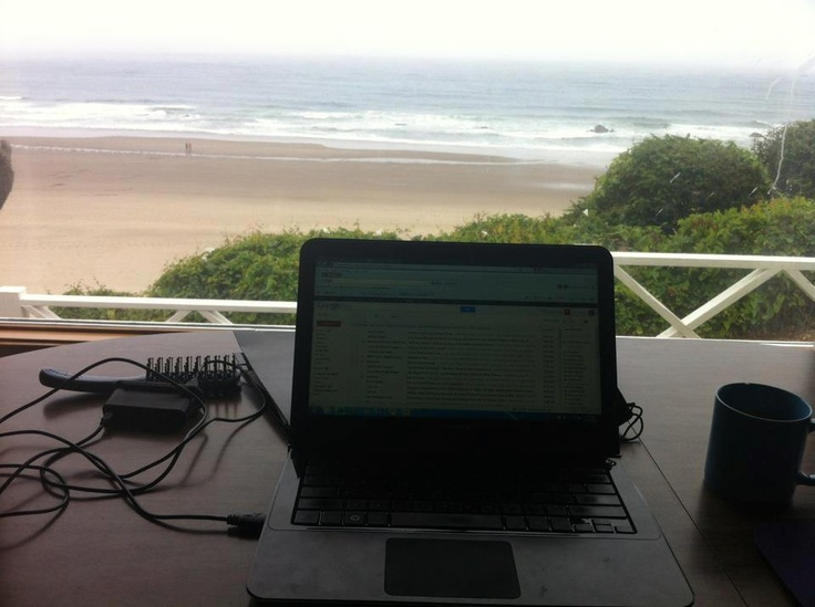 Inspiring view from Citrix employee Kelly F.'s beachside office.