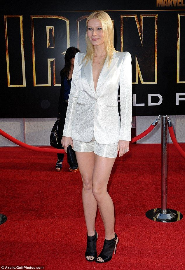Tanned and toned: Gwyneth revealed there is no quick fix to achieve a figure like hers as she admitted that she worked out and ate healthily to maintain her flawless frame