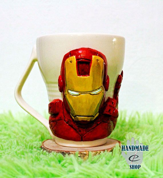 Iron ManTony Stark Marvel cup mug mug with decor handmade