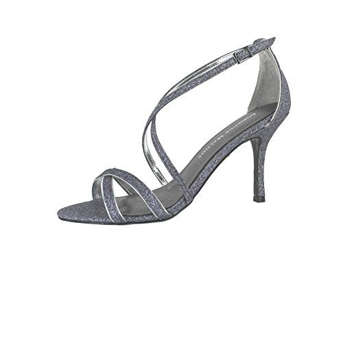 ADRIENNE MALOOF YALENA PEWTER GLITTER WOMENS ANKLE STRAP Size 8M *** Details can be found by clicking on the image.