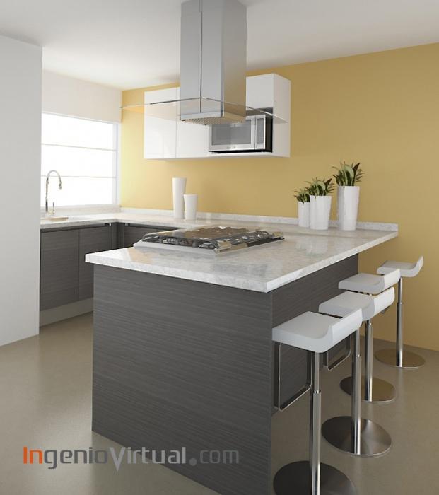 www.ingeniovirtual - Infografía para proyecto de cocina en vivienda Unifamiliar.