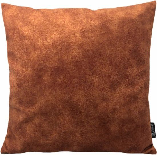 Olivia Roest Kussenhoes   Polyester – Waterafstotend   45 x 45 cm   Bruin