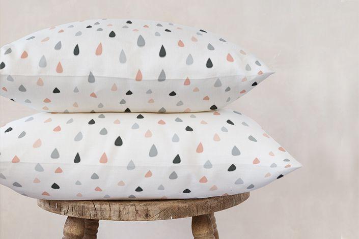 Rain drops cushions | Stylisti on Minted