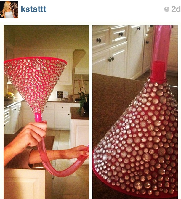 @Tristin Purves if you were a beer bong ths would be you. haha bedazzled beer bong.                                                                                                                                                                                 More
