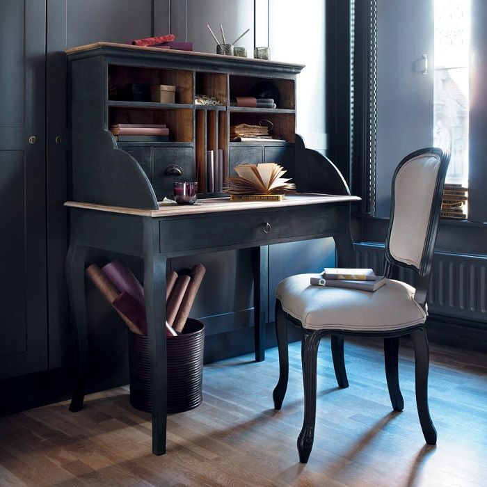 bureau secr taire chinon en manguier noir bureau secretaire maison de monde et secr taire. Black Bedroom Furniture Sets. Home Design Ideas