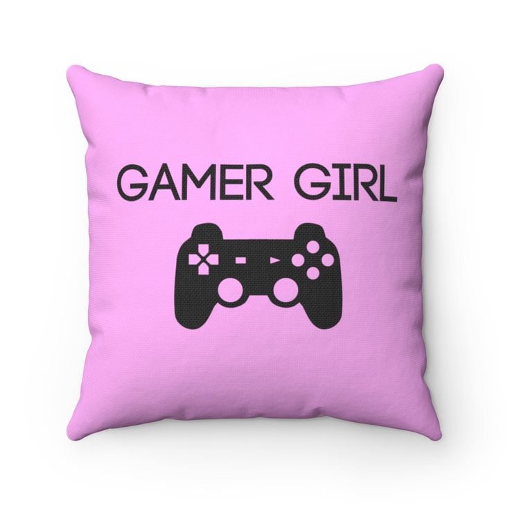 Gamer Girl Bedroom Decor Gamer Pillow Spun Polyester Square Gaming Pillow – Pink