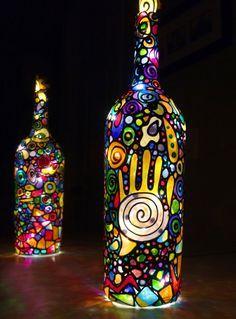 diy lampen und leuchten led lampen orientalische lampen lampe mit bewegungsmelder designer lampen glas bemalen2