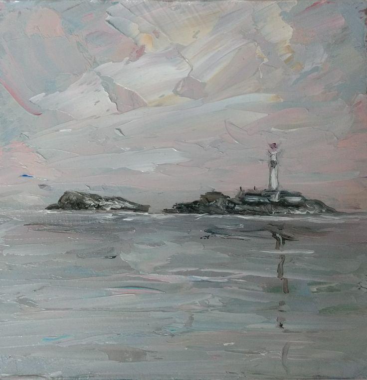 Mini oil painting - Rockabill Lighthouse