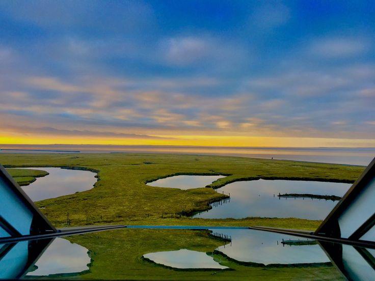 Ausblick auf der Hallig Langeneß, Nordfriesland, Schleswig-Holstein, Nordsee, Nordfriesische Inseln, Oland ... #langeness