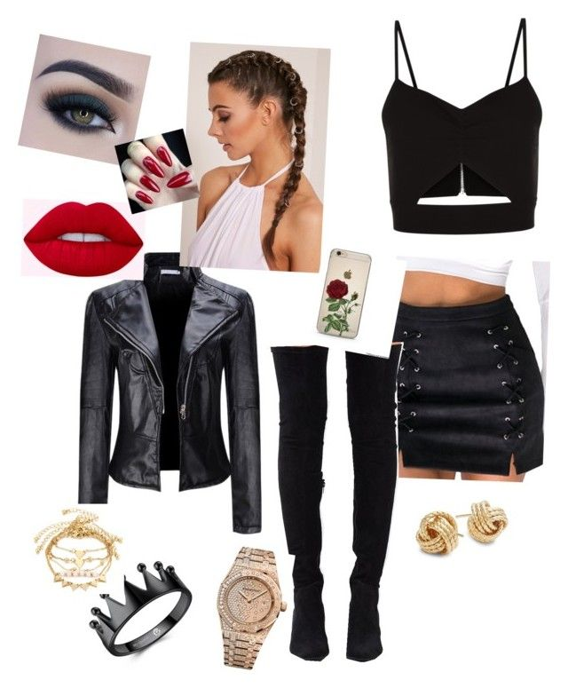 """""""Izzy"""" by ellie-redford on Polyvore featuring Racil, WithChic, Jeffrey Campbell, Audemars Piguet, Saks Fifth Avenue and Too Faced Cosmetics"""