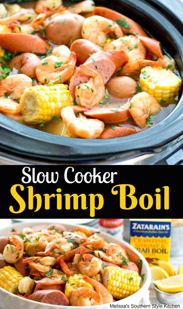 Slow Cooker Shrimp Boil Ad Zatarains Shrimpboil Slowcooker