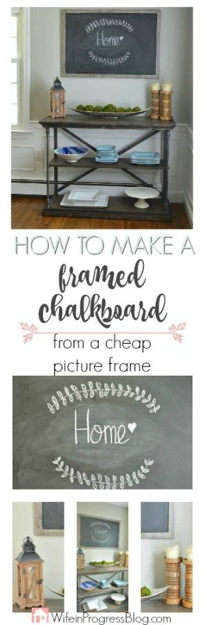 This extra large framed chalkboard was made from a cheap picture frame. It adds the perfect rustic farmhouse style to any home and costs…