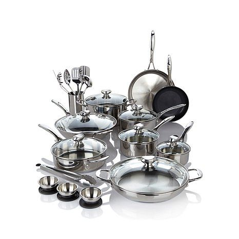 Wolfgang Puck Bistro Elite 27-piece Stainless Steel Cookware Set - 7517000 | HSN