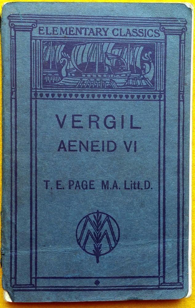 Aeneid VI Vergil Virgil Elementary Classics 1918 Latin text illustrated notes