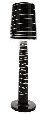 Lampadaire Miss Jane H 150 cm Noir laqué rayé - Serralunga - Décoration et mobilier design avec Made in Design