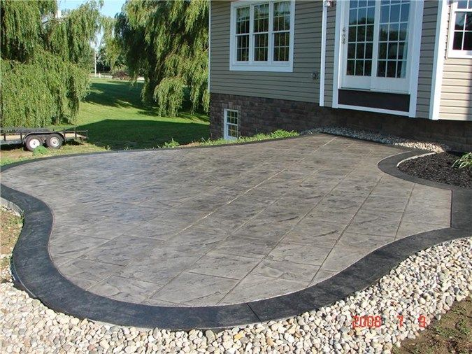 Slate Stamped Concrete Patio Ideas