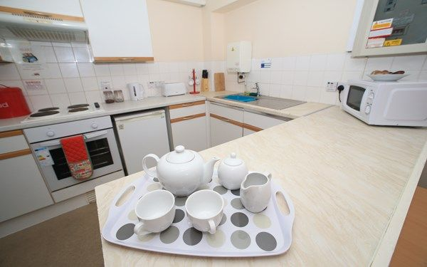 Shared kitchen for students sharing accommodation with their friends