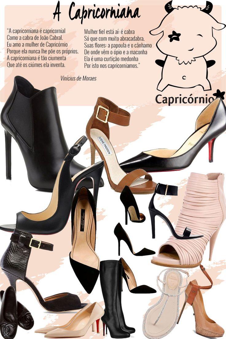 Sapatos da mulher de capricórnio: a capricorniana é tradicional, mas adora o poder, e seus sapatos seguem a mesma linha!