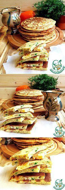 Блины с курицей и зеленью по-деревенски - кулинарный рецепт