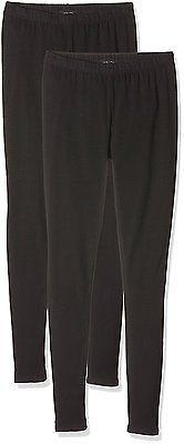 8 UK (36 EU), Black, New Look Women's Leggings (Pack of 2)