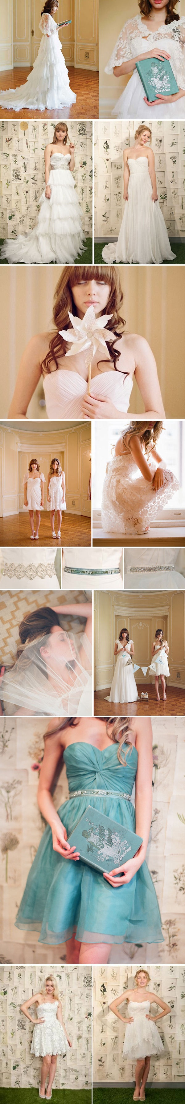 I <3 the Blue Dress!!! Modern Wedding Dresses Ivy & Aster