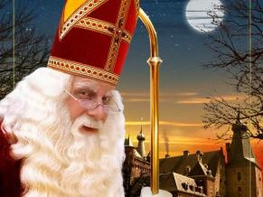 Sinterklaas, our girls met him at the Holiday Inn in Leiden one Dutch Christmas