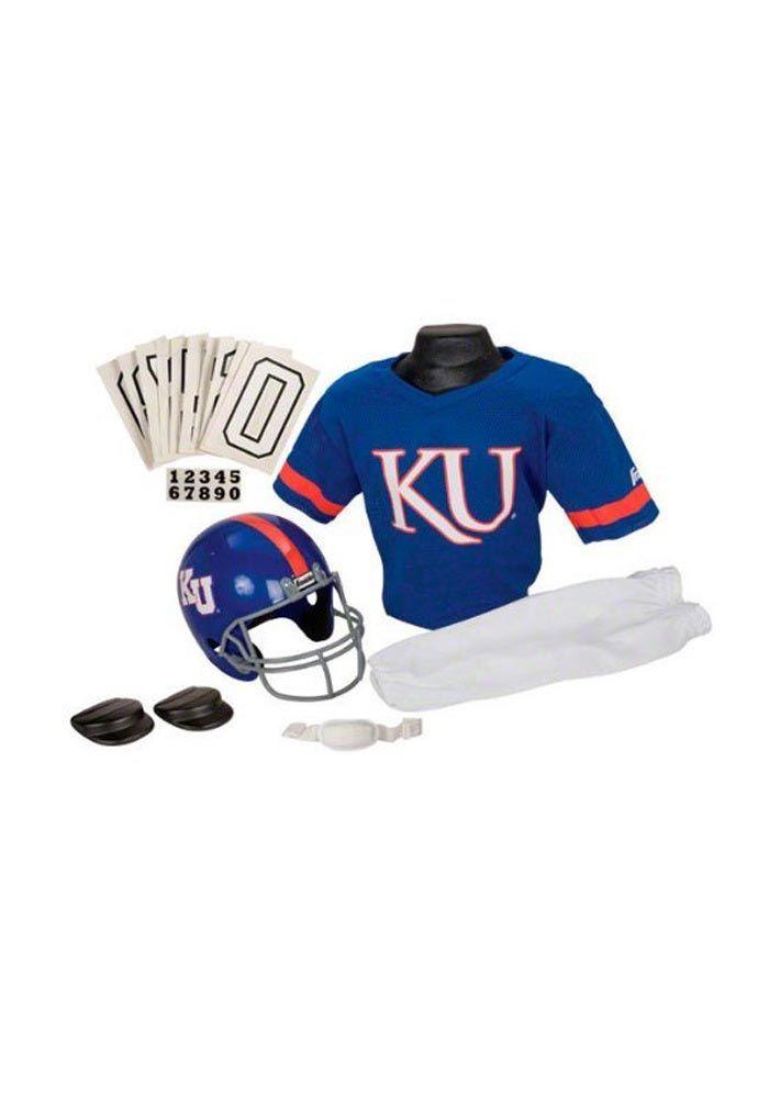 HALLOWEEN COSTUME: Kansas Jayhawks Youth Football Uniform Set http://www.rallyhouse.com/shop/kansas-jayhawks-kansas-jayhawks-youth-football-uniform-set-345484 $59.95