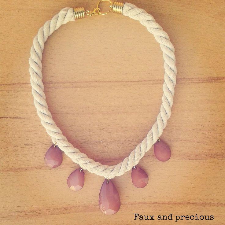 #handmade #necklace #vintage #rose #stones #fauxandprecious #summeredition