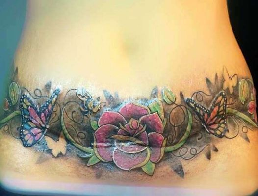 17 best images about tummy tuck tattoos on pinterest for Stomach scar tattoos