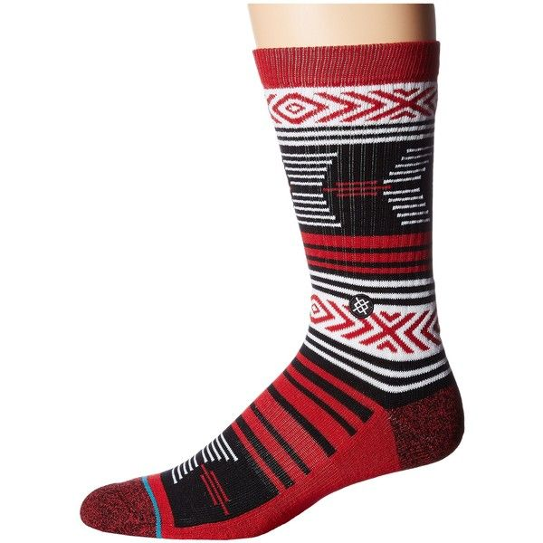 Stance Mazed Cardinals (Cardinal) Men's Crew Cut Socks ($11) ❤ liked on Polyvore featuring men's fashion, men's clothing, men's socks, red, mens cotton crew socks, mens cotton socks, mens crew socks, mens red socks and mens socks