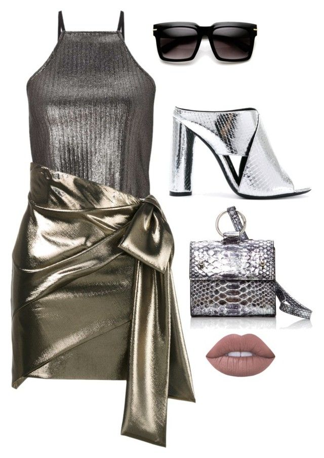 """Shine"" by trend-anonymous on Polyvore featuring Miss Selfridge, Yves Saint Laurent, Tom Ford, Hayward and Lime Crime"