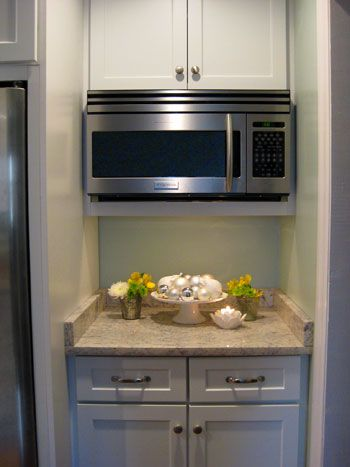 Under Countertop Microwave : Microwave cabinet on Pinterest Kitchen cabinet makers, Microwave ...