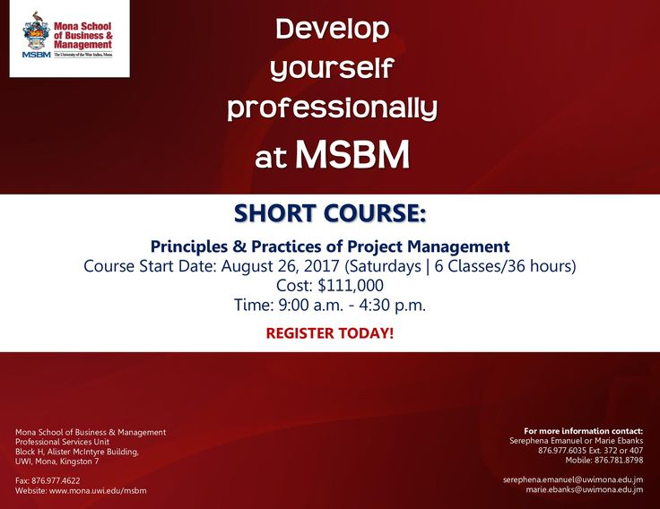 Develop yourself professionally at MSBM!
