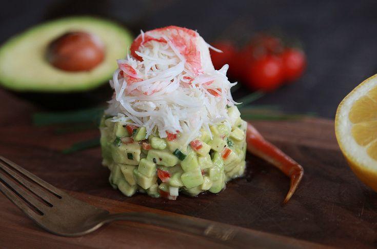 Découvrez notre recette de tartare d'avocat au crabe des neiges, faite à partir des délicieux avocats du Mexique!