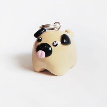 Cute Fat Pet Pug Dog Necklace