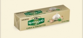 Kerrygold Garlic and Herb butter is made with Pure Irish Butter blended with garlic and fresh herbs. This is delicious melted onto grilled fish, and a little goes a long way.