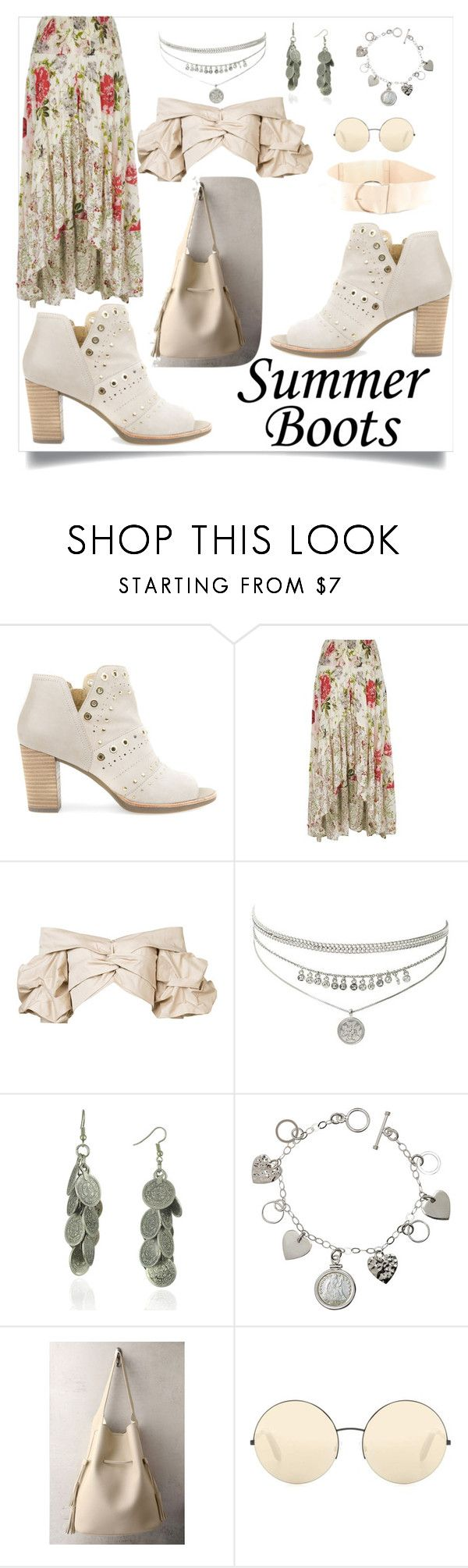 """Summertime"" by constanceee64 ❤ liked on Polyvore featuring Geox, River Island, Johanna Ortiz, WithChic, American Coin Treasures, LULUS, Victoria Beckham and Torrid"