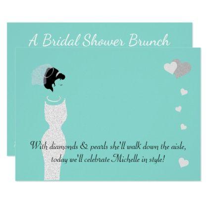 #invitations #wedding #bridalshower - #BRIDE & CO Teal Blue Bridal Shower Invitation