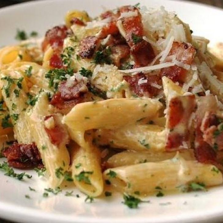 Bacon And Parmesan Penne Pasta Recipe Recipes Pinterest Bacon Penne Pasta And Parmesan