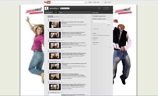Personalizzazione grafica del canale #youtube del portale giovanifvg.it