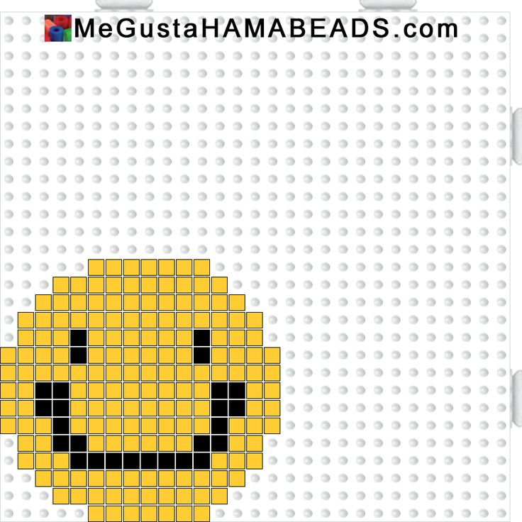 Smiley hama mini perler beads pattern