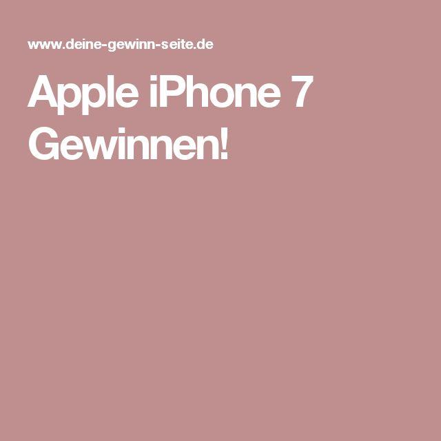 Apple iPhone 7 Gewinnen!