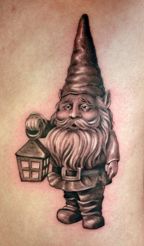 20 best gnome tattoos images on pinterest gnomes for Garden gnome tattoo designs