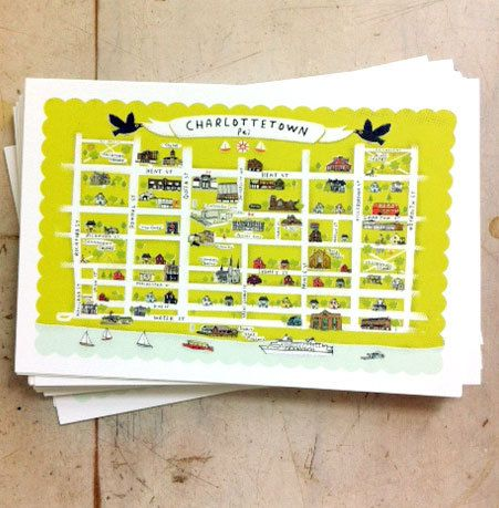 Look at the cute postcards of Charlottetown that Lori Joy Smith made!