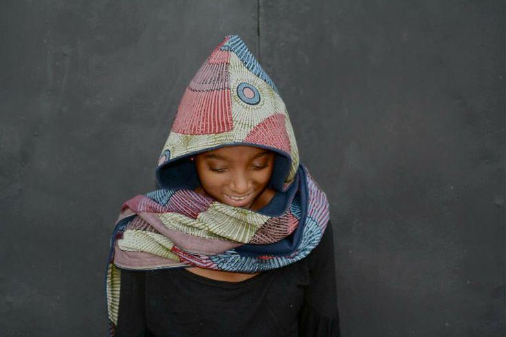 capucha bufanda African Wax+ interior forro polar