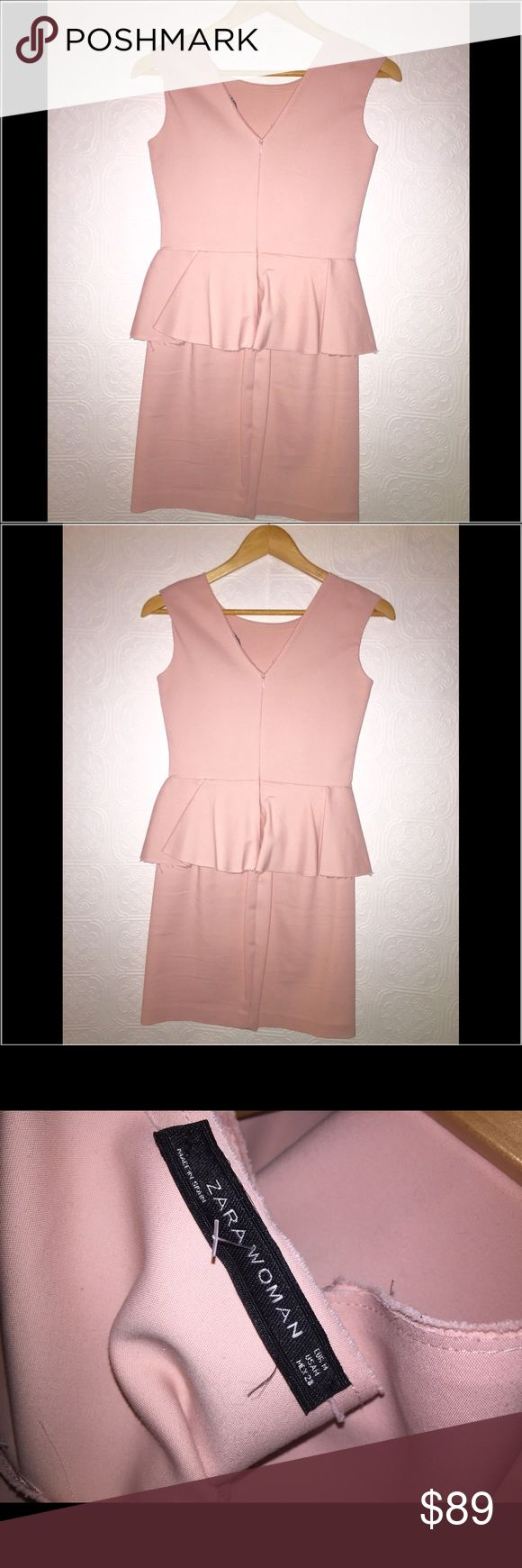 ZARA Woman NWOT awesome blush pink dress SALE‼️❤️ Beautifully made Zara dress. Side zipper  see tag pic for material. Absolutely beautiful❤️❤️❤️❗️ Final reduction✔️ Zara Dresses Midi