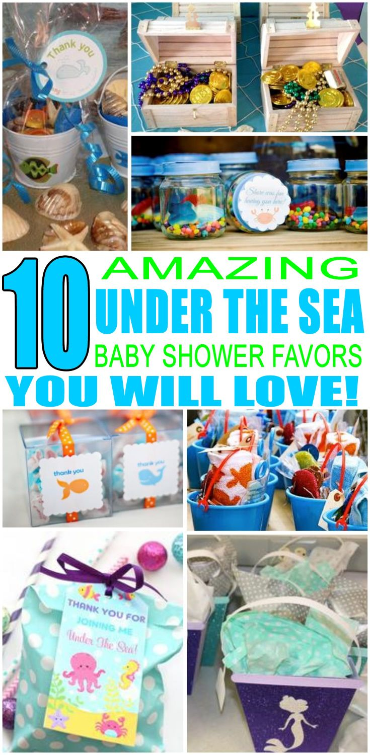 Under The Sea Baby Shower Favors With Images Sea Baby Shower