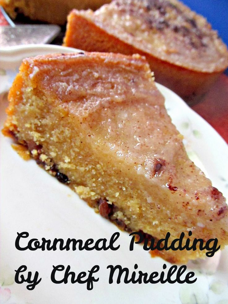 Jamaican Cornmeal Pudding | Substitute with vegan butter; no eggs in recipe