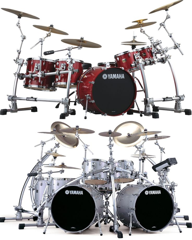 """""""yamaha_drums_racks_sexy_by_mysterydrummer-d352quz.jpg (800×1000)""""  That is what it said when I pinned it. My response? I love a big, sexy rack."""